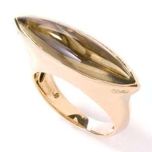 14K Rose Gold Smoky Quartz & Diamond Ring Jewelry