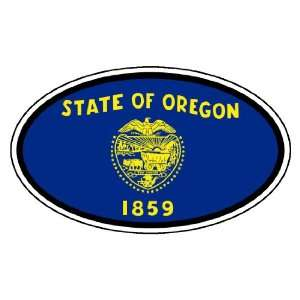 Oregon State Flag Car Bumper Sticker Decal Oval