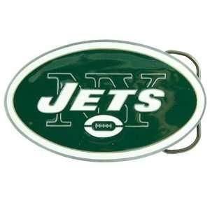 NFL New York Jets Pewter Team Logo Belt Buckle Sports