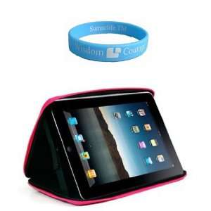 Apple iPad Cube Case Semi Hard Black Pink Carrying Case