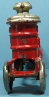 CAST IRON FIRE PUMPER ALL ORIGINAL BEAUTIFUL 6 1/2 LONG T129