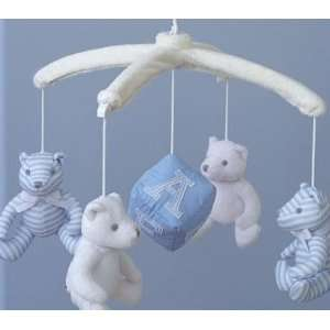 Pottery Barn Kids Blue Teddy Bear Mobile Baby