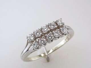 Antique Deco Genuine 1.00ct Diamond 14K White Gold Engagement Wedding