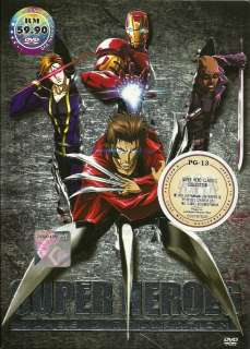 + Wolverine + Iron Man + Blade Anime DVD (4in1 DVD Boxset) animation
