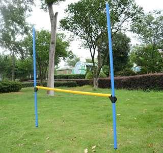 Pet Dog Agility Equipment Set Toys Training Exercise 3 PCS Pole Jump