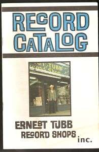 Ernest Tubb  Record Shop Catalog  Nashville