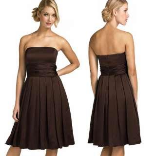 Line Strapless Cocktail Silk Satin Dresses AU 6~24