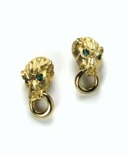 VINTAGE BIG CAT DOOR KNOCKER EARRINGS 1960s