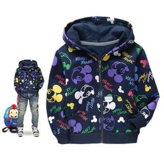 Blue Kids Boys Mickey Mouse Zip Hoodie Coat 2 8 Year W6500
