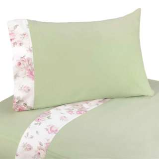 DISCOUNT SHABBY CHIC PINK FLOWER CHILDRENS GIRL CHEAP TWIN BEDDING SET