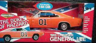 18 1969 Dodge Charger General Lee Dukes of Hazzard 2 car version