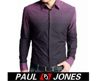 Fashion Mens Casual Formal/Dress Shirt XS~L 3colors,Gradient design