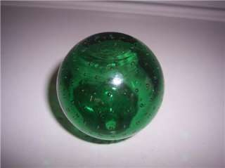 emerald green Glass Target Ball OR FIRE EXTINGUISHER ROUND BOTTLE