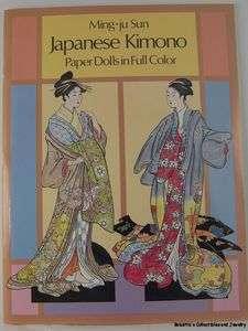 JAPANESE KIMONO PAPER DOLL BOOK MING JU SUN 1989 PAPER DOLLS