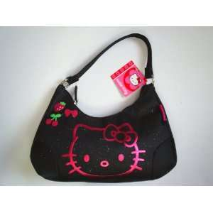 Sanrio Hello Kitty Handbag Purse Black Color