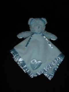Baby Boyds Security Blanket Blue Bear Heart Boy Lovey