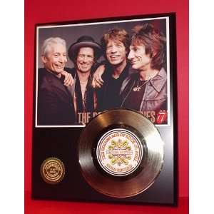 ROLLING STONES GOLD RECORD LIMITED EDITION DISPLAY