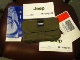 2008 JEEP WRANGLER OWNERS MANUAL SET 08 WITH CASE AND NAVIGATION BOOK