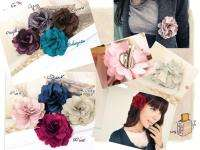 Pcs 3inch Silky Rose Flower Hat Hair Clip Brooch Pin Daisy