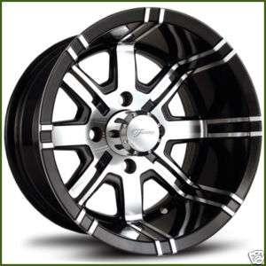 Fairway Alloys 12 x 7 Aggressor Golf Cart Car Rim Wheel Set FA119