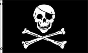 Pirate Flag 3x5 ft Skull and Crossbones Jolly Roger New