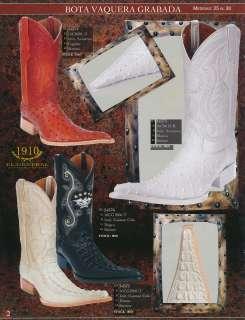 El General Ostrich/Caiman Print Mens Leather Cowboy Boots Diff