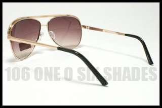 AVIATOR Rhinestone Classic Sunglasses Ladies GOLD with Smoke Lens