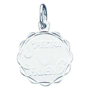 Sterling Silver Special Friend Disc Charm Jewelry
