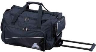 20 Black Heavy Duty Rolling Wheeled Duffel Bag Luggage Carry on (3