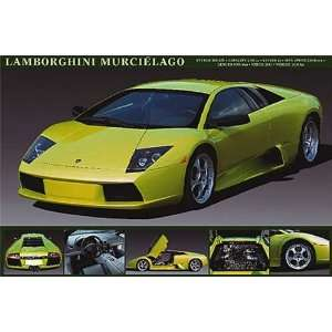 Lamborghini Murcielago Racing Sports Car Poster 24 x 36