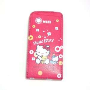 hello kitty red baby flip leather case for iphone 4 4G