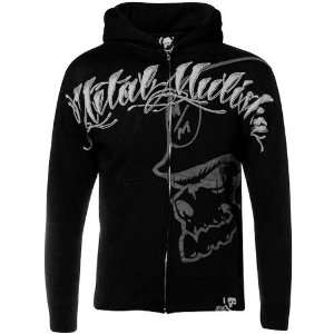 Metal Mulisha Black Killagraphy Full Zip Hoody Sweatshirt (Large