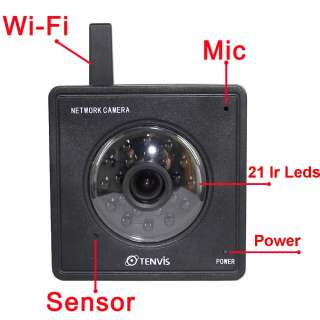 Wlan Network Wireless WIFI IP Camera Audio 21 IR LED Day Night Vision
