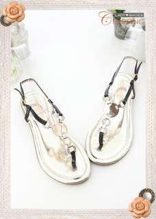 Womens Bling Bling Jeweled Flats Sandals 3 Colors
