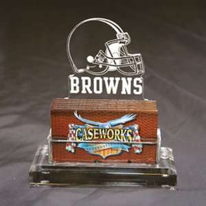 Cleveland Browns NFL Business Card Holder w/ Gift Box