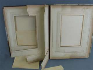 Lovely Antique Celluloid Cabinet Card Photo Album Empty
