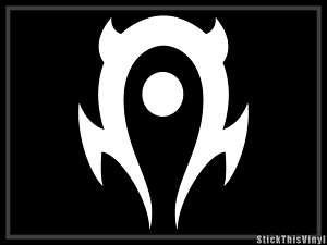 WOW World of Warcraft Horde Logo Die Cut Sticker (2x)