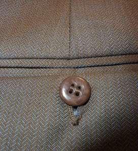 ZANELLA Brown & Blue Iridescent Woven Wool Dress Pants 38