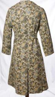 Young Miss Of California Tweed Grey Green Brown Floral Lined Trench