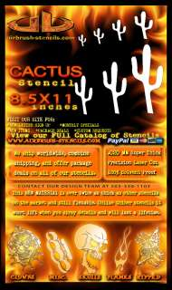 Western Cactus airbrush stencil template harley paint