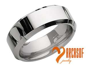 TUNGSTEN CARBIDE POLISHED SILVER WEDDING BAND RING WITH FREE GIFTBOX