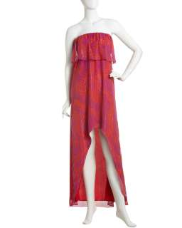 JB by Julie Brown Hi Lo Strapless Maxi Dress