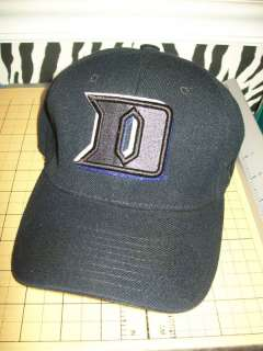 Duke Blue Devils NCAA Black Fitted Hat Cap Lid S ACC