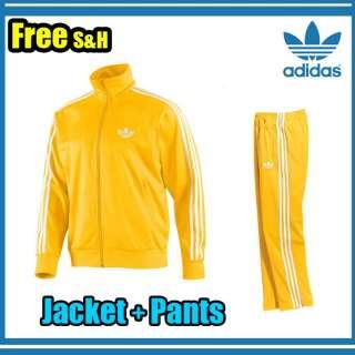 FIREBIRD YELLOW WHITE TRACKSUIT BOTTOM PANTS AND TOP JACKET   M L XL