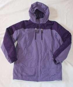 LANDS END Girls Purple Winter Coat Jacket XL 16 Parka Long Snow Suit