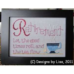 Retirement Tea   Cross Stitch Pattern: Arts, Crafts