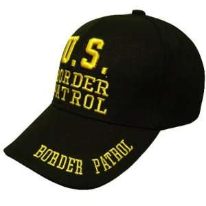 US BORDER PATROL LAW ENFORCEMENT BLACK VELCRO HAT CAP