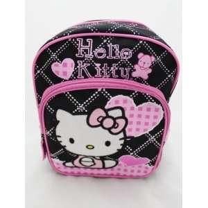 Hello Kitty School 10 Mini Backpack Bag   BLACK HEART