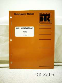 Thermo King GILLIG NEOPLAN Trane GB Maintenance Manual