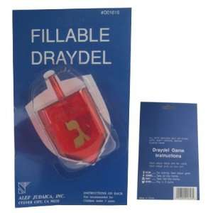 Wrapped Dradels. Top Comes Off to Make It Fillable. Red Colored